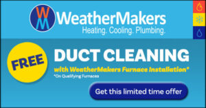 Weathermakers Duct Cleaning Coupon